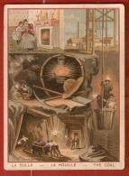 IMAGE 8,5 X 12,5  . LA HOUILLE . Scènes De La Mine... Au Chauffage Au Coin Du Feu . Illust. VIEILLEMARD - Schede Didattiche