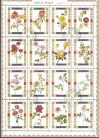 Umm Al-Qiwain 1972 Mi# 1434-1449 A Used - Combined Sheet - Roses - Umm Al-Qiwain