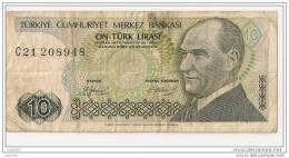 10 Lirasi 1970 - N° C21 208948 - Turquie - - Turquie