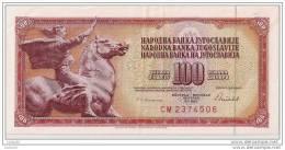 100 Dinara 1986 - N° CM2374506 - Yougoslavie - Superbe - - Yugoslavia