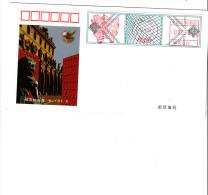 CINA R.P.  1998 - Intero Postale Con Affrancatura Su Etichetta - 1949 - ... Repubblica Popolare
