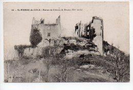 REF 151  : CPA 24 Ruines Du Chateau De Bruzac St Pierre De Cole - France