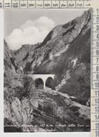 Anversa D'abruzzo  L'aquila  Ponte Della Foce Con Veduta Di Castrovalva  1958 - L'Aquila