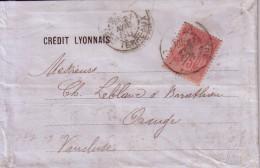 SAGE - N°81 SEUL SUR LETTRE DE LYON LE 27 NOVEMBRE 1888 - COTE 500€ - RARE. - Marcophilie (Lettres)