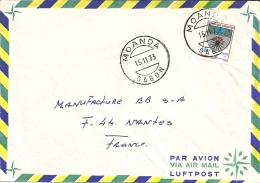 Gabon 1973 Moanda >> Nantes France - Gabon (1960-...)