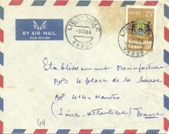 Gabon 1964 Libreville >> Nantes France - Gabon (1960-...)