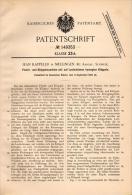 Original Patentschrift - Jean Kappeler In Mellingen , Aargau , 1902 , Flechtmaschine , Flechterei , Klöppel !!! - Machines