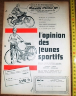 PUB PUBLICITE CYCLOMOTEUR MOBYLETTE SPECIALE 50 - Collections