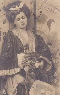 Aj - Rare Cpa Illustrée (Geisha ??) Tuck - Un Mot à La Poste (précurseur) - Tuck, Raphael