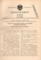 Original Patentschrift - G. Rademacher Und J. Boll In Quickborn I. Holst., 1903 , Schlagpresse , Presse , Steine !!! - Maschinen