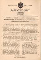 Original Patentschrift - Freiherr Franz Von Zedlitz Und Leipe In Meinerdingen B. Walsrode ,1902 , Kartoffelmaschine !!! - Maschinen