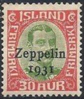 ISLANDE -  30 A. Zeppelin Neuf - Poste Aérienne