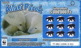 Lottery - Hungary - WWF - Jegesmedve - Polar Bear - Biglietti Della Lotteria
