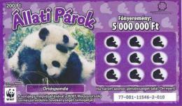 Lottery - Hungary - WWF - Óriáspanda - Giant Panda - Biglietti Della Lotteria