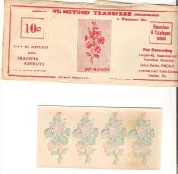 Nu-Method Transfers In Waterproof Oils Cleveland, Ohio  4 Small Transfers, Envelope And Instructions - Stickers