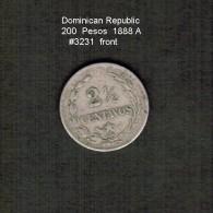 DOMINICAN REPUBLIC    2 1/2  CENTAVOS  1888 A  (KM # 7.3) - Dominicaine