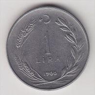 @Y@    Turkije   1  Lira  1966      (2494) - Turkije