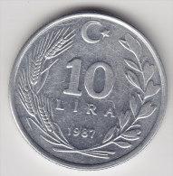 @Y@    Turkije   10 Lira  1987      (2496) - Turkije