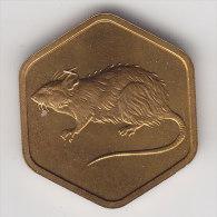 @Y@    Jeton   JAPAN    JAAR VAN DE RAT  1984      (2498) - Jetons En Medailles