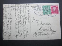 1925, Schiffstempel  BREMEN - LA PLATA, Karte - Germany
