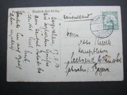 1913, Karte Aus Daressalam - Colony: German East Africa