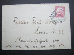 1905, Ganzsache Nach Berlin,  Viel Text - Colony: German South West Africa