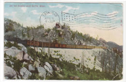Railroad Train Summit Near Butte Montana 1908 Postcard
