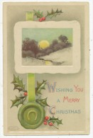 Wishing You A Merry Christmas, Guernsey Interest Taylor, Route Isabelle, 1917 Postcard - Noël