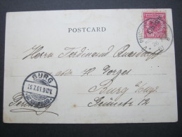 1901, Seepoststempel Auf Chinamarke, Ansicht - Offices: China