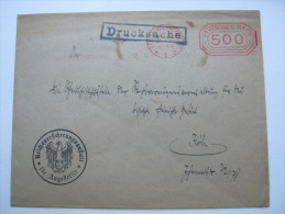 1923, Roter Freistempel 500    , Brief Aus Berlin - Briefe U. Dokumente