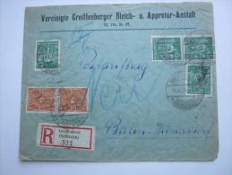 1923, Seltener Postauftrag Als Einschreiben Aus Greiffenberg, Blockfrankatur ,seltenes Porto ! - Deutschland