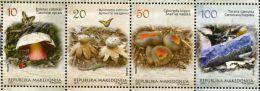 MK0155 Macedonia 2013 Mushrooms And Butterflies 4v MNH - Macedonia