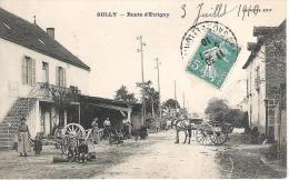 71 - SULLY : ROUTE D' ETRIGNY .ATTELAGE ET ANIMATION ; - Autres Communes