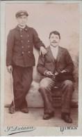 Photo C D V 2 Homme Peut Etre Marin ? Par J Deland à Dinan  Circa 1880 - Personnes Anonymes