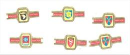 Lot De 6 Bagues De Cigares - Guerre 40/45 - Blasons D´unités - Airborne-  France - USA - Angleterre(b133) - Bagues De Cigares