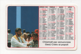 Alt433 Calendario Tascabile, Pocket Calendar, Calendrier De Poche, Pontificie Opere Missionarie, Papa, 1994 - Calendari