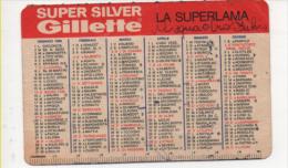 Alt436 Calendario Tascabile, Pocket Calendar, Calendrier De Poche, 1964, Super Silver Gilette, Lamette Da Barba Vintage - Calendari