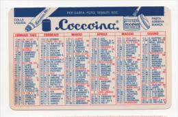 Alt437 Calendario Tascabile, Pocket Calendar, Calendrier De Poche, 1992, Coccoina Colla Liquida Per Carta Foto Tessuti - Calendari