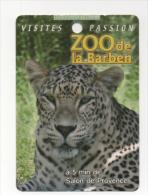 Alt418 Biglietto Pubblicitario, Promotional Card, Zoo Barben, Animali, Animals Salon Provence, Ghepardo Cheetah Guépard - Reclame