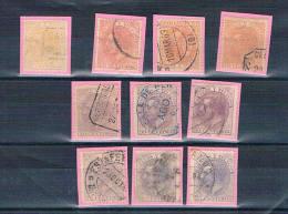 España. Conjunto De 10 Sellos De Alfonso XII  Usados - 1875-1882 Reino: Alfonso XII