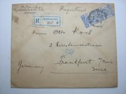 HONGKONG,  1923, Brief Nach Deutschland - Hong Kong (...-1997)
