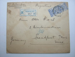 HONGKONG,  1923, Brief Nach Deutschland - Covers & Documents