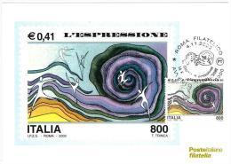 CARTOLINA - AVVENTO ANNO 2000  - L'ESPRESSIONE - Evénements