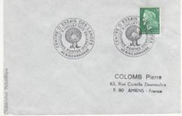 OBLITERATION COMMEMORATIVE PORTES OUVERTES CENTRE D'ESSAIS DES LANDES BISCAROSSE 1973 - Militaria