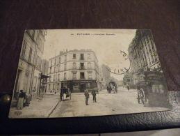 A11.CPA.92 PUTEAUX.Carrefour Rousselle.Attelages,Devan Ture.Haut De Seine.rare Beau Plan Animé.écrite & Voyagée 1911 - Châtillon