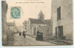 ENVIRONS DE MANTES  - Drocourt, Route De L´église. - France
