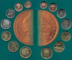 GREECE GREEK 2000 LAST DRACHMAS 7 COIN SET BU By NATIONAL BANK - Greece