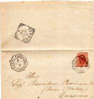 1901  LETTERA CON ANNULLO CASTELCASTAGNA TERAMO - 1900-44 Vittorio Emanuele III