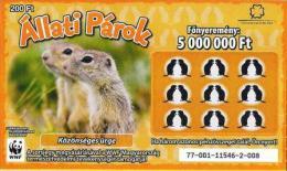 Lottery - Hungary - WWF - Közönséges Ürge - European Ground Squirrel - Biglietti Della Lotteria