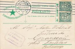 ESPERANTO - NEDERLAND - Carte Illustrée Etoile Verte HAARLEM 1912 Vers KARLSBAD  --  C1/786 - Esperanto